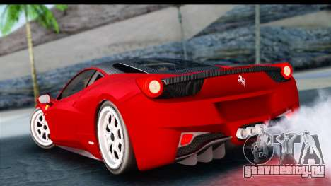 Ferrari 458 Italia Stanced для GTA San Andreas вид слева