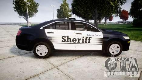 Ford Taurus 2014 Sheriff [ELS] для GTA 4 вид слева