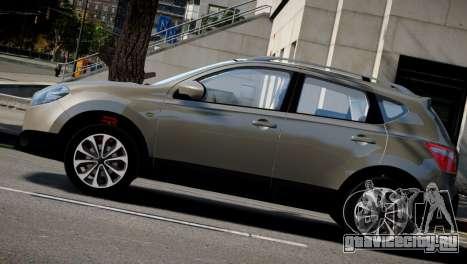 Nissan Qashqai 2011 для GTA 4 вид сзади