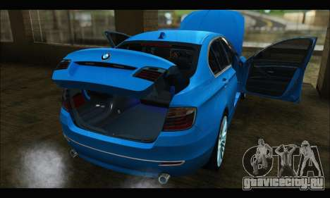 BMW 5 series F10 2014 для GTA San Andreas вид сзади слева
