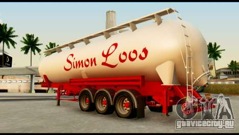 Mercedes-Benz Actros Trailer Simon Loos для GTA San Andreas вид сзади слева