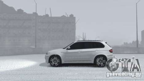 BMW X5M 2011 для GTA 4 вид сзади
