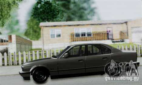 BMW 525 E34 Rims для GTA San Andreas вид сзади