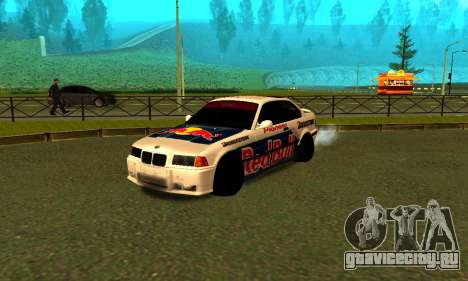 BMW M3 E36 RedBull для GTA San Andreas вид слева