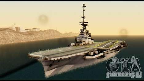 Colossus Aircraft Carrier для GTA San Andreas вид справа