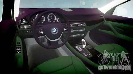 BMW 525d F11 2014 Facelift Civilian для GTA 4 вид изнутри