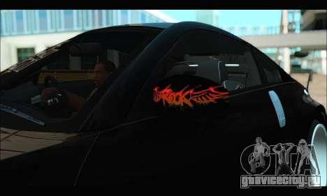 Nissan 350Z Rock для GTA San Andreas вид сзади