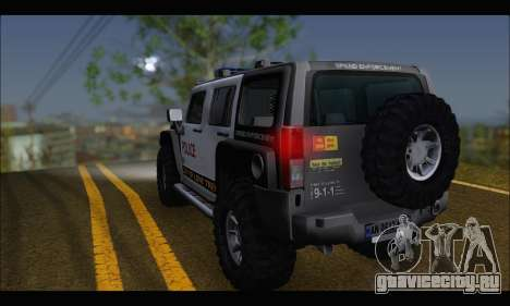 Hummer H3 Police для GTA San Andreas вид слева