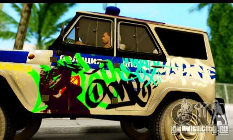 УАЗ 315195 Хантер для GTA San Andreas вид сзади слева