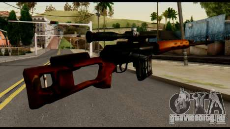 SVD from Metal Gear Solid для GTA San Andreas второй скриншот