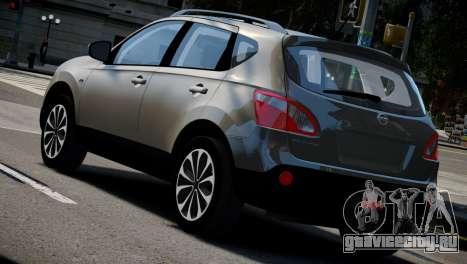 Nissan Qashqai 2011 для GTA 4 вид слева