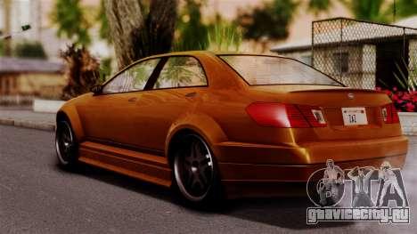 GTA 5 Schafter для GTA San Andreas вид слева