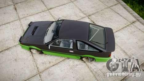 Toyota AE86 для GTA 4 вид справа
