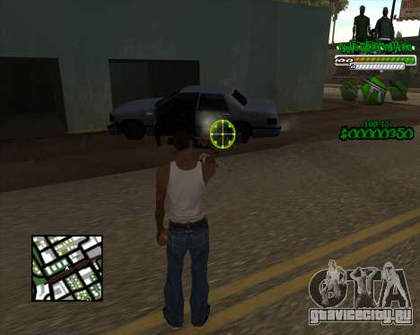 C-HUD for Groove для GTA San Andreas второй скриншот