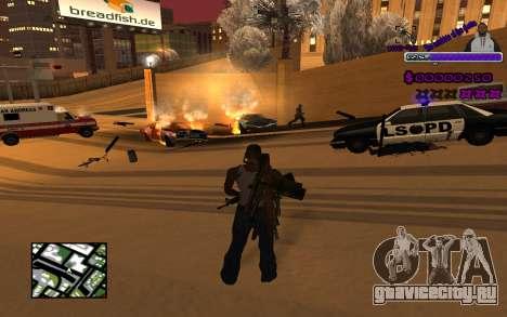 С-HUD Ghetto для GTA San Andreas второй скриншот