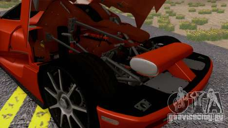Koenigsegg CCX 2006 Road Version для GTA San Andreas вид сзади