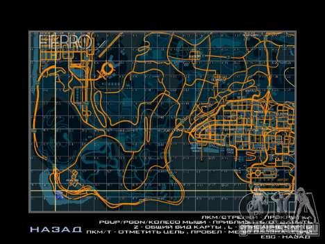 Карта с секторами в гоночном стиле для GTA San Andreas четвёртый скриншот