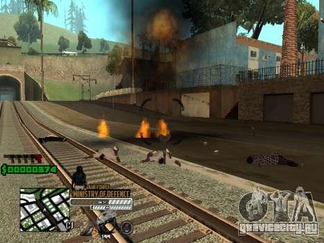 C-HUD Air Force для GTA San Andreas второй скриншот
