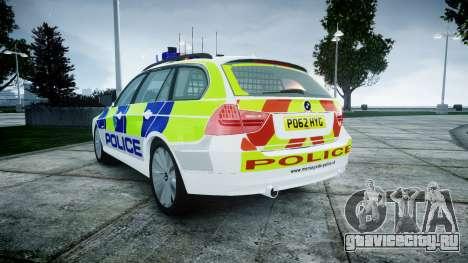BMW 3 Series Touring E91 [ELS] для GTA 4 вид сзади слева