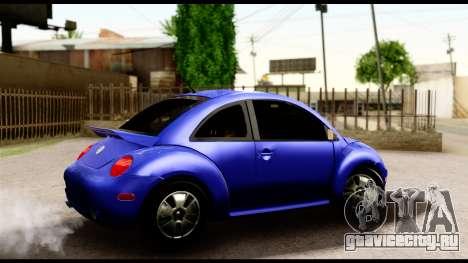 Volkswagen New Beetle для GTA San Andreas вид сзади слева