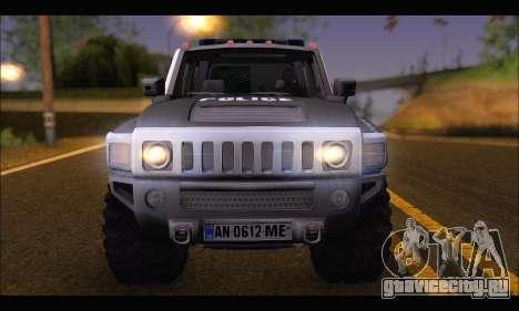 Hummer H3 Police для GTA San Andreas вид справа