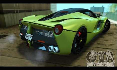 Ferrari LaFerrari 2014 для GTA San Andreas вид изнутри