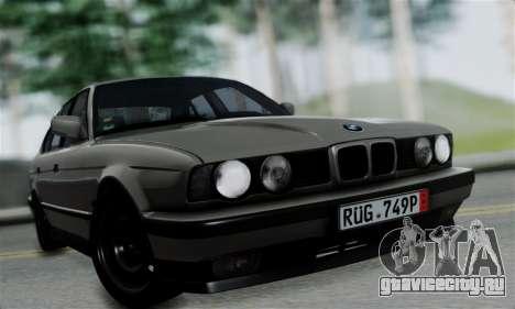 BMW 525 E34 Rims для GTA San Andreas вид сзади слева