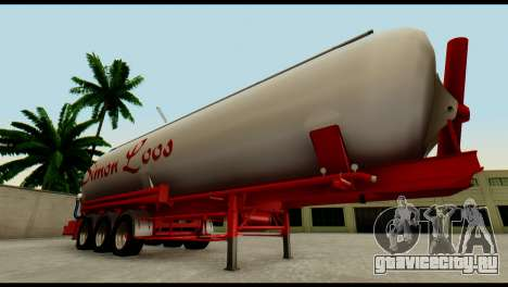 Mercedes-Benz Actros Trailer Simon Loos для GTA San Andreas вид изнутри