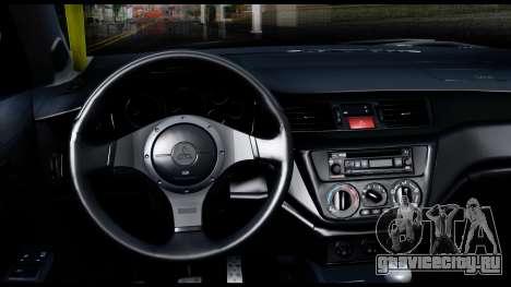 Mitsubishi Lancer Evo 9 для GTA San Andreas вид справа