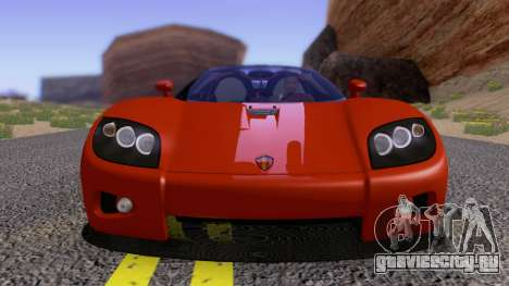 Koenigsegg CCX 2006 Road Version для GTA San Andreas вид изнутри