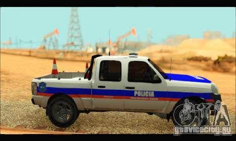 Ford Ranger 2011 Policia Bonaerense для GTA San Andreas вид сзади слева