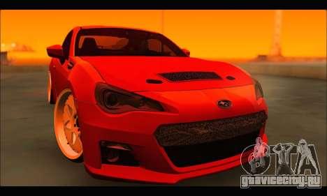Subaru BRZ для GTA San Andreas