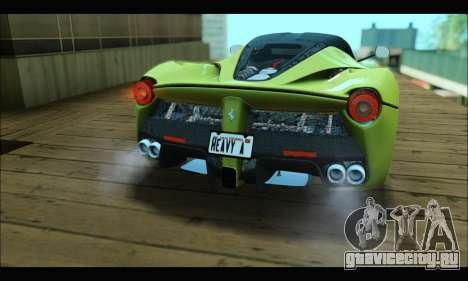 Ferrari LaFerrari 2014 для GTA San Andreas вид сзади