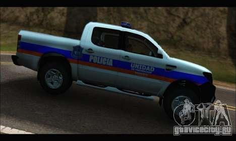 Ford Ranger P.B.A 2015 Text2 для GTA San Andreas вид слева
