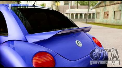 Volkswagen New Beetle для GTA San Andreas вид сзади
