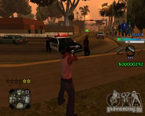 C-HUD Rifa для GTA San Andreas второй скриншот