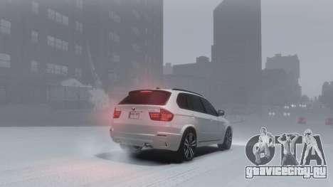 BMW X5M 2011 для GTA 4 вид изнутри
