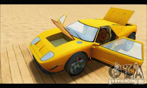 Vapid Bullet Gt (GTA V TBoGT) для GTA San Andreas вид изнутри