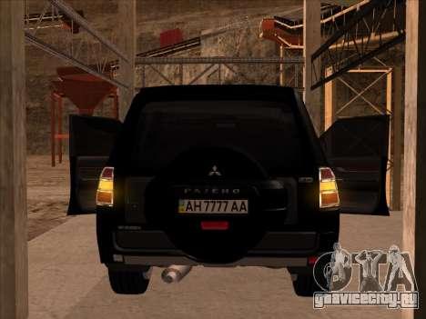Mitsubishi Pajero для GTA San Andreas вид справа