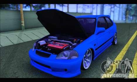 Honda Civic HB (BLG) для GTA San Andreas вид сзади
