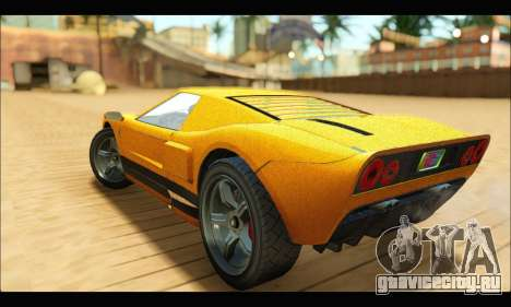 Vapid Bullet Gt (GTA V TBoGT) для GTA San Andreas вид сзади
