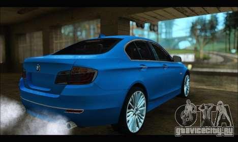 BMW 5 series F10 2014 для GTA San Andreas вид слева