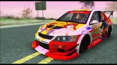 Mitsubishi Lancer Evo IX Hirasawa Yui K-ON Itash для GTA San Andreas