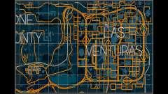 Карта с секторами в гоночном стиле