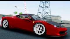 Ferrari 458 Italia Stanced для GTA San Andreas