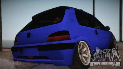 Peugeot 106 GTI F Tuning для GTA San Andreas вид слева