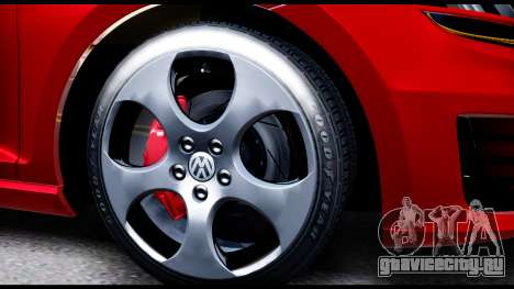 Volkswagen Golf GTI 2015 для GTA San Andreas вид сзади