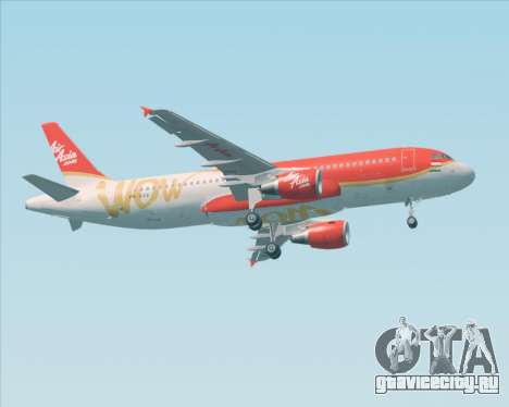 Airbus A320-200 Indonesia AirAsia WOW Livery для GTA San Andreas вид сзади слева