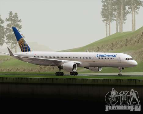 Boeing 757-200 Continental Airlines для GTA San Andreas вид слева