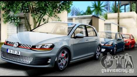 Volkswagen Golf GTI 2015 для GTA San Andreas вид сбоку